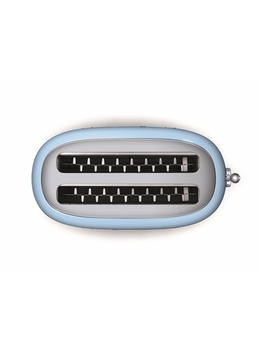 Smeg Tsf02Pbeu 1500 W 6 Programlı 4 Dilim Hazneli Ekmek Kızartma Makinesi Mavi